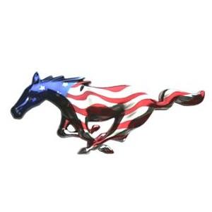 Runing Horse de calande drapeau US